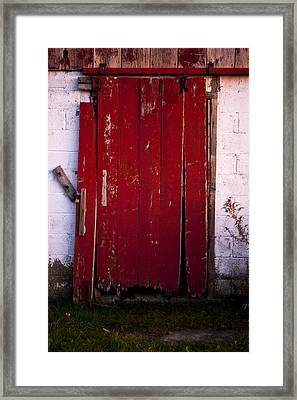 Red Door Framed Print by Cale Best