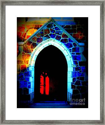 Red Door Church Framed Print
