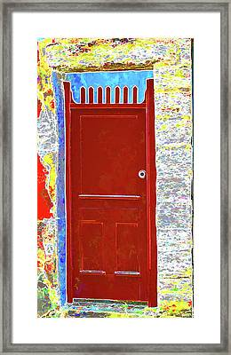 Red Door Framed Print by Dulce Levitz