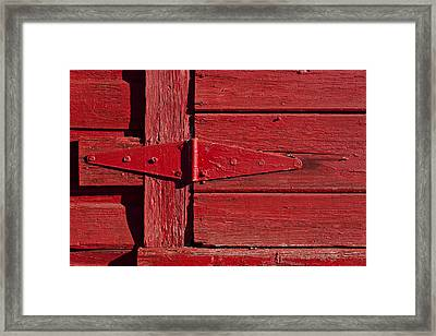 Red Door Henge Framed Print