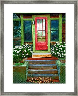 Red Door Framed Print by Susan Lee Giles