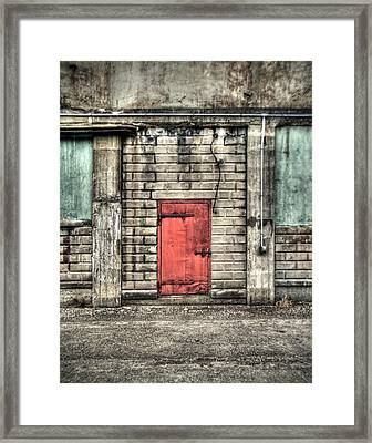 Red Door Framed Print by Tammy Wetzel