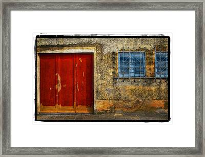 Red Doors Framed Print by Mauro Celotti
