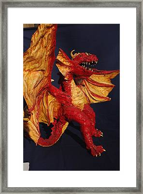 Red Dragon Framed Print by Rick Ahlvers