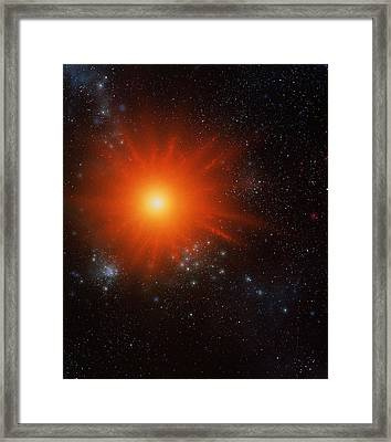 Red Dwarf Star Framed Print by Julian Baum
