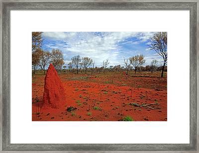 Red Earth Framed Print by James Mcinnes