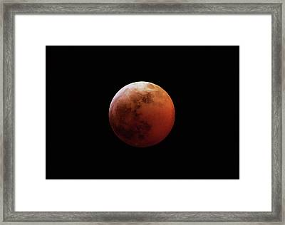 Red Eclipsed Moon Framed Print by Photography By Escobar Studios