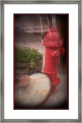 Red Faithful Hangin' At The Corner Framed Print