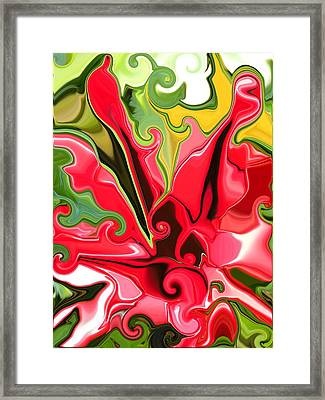 Red Fantasy Lily Framed Print