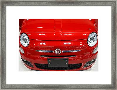 Red Fiat . 7d9371 Framed Print by Wingsdomain Art and Photography