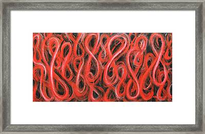 Red Figure Eight Study Number One Framed Print
