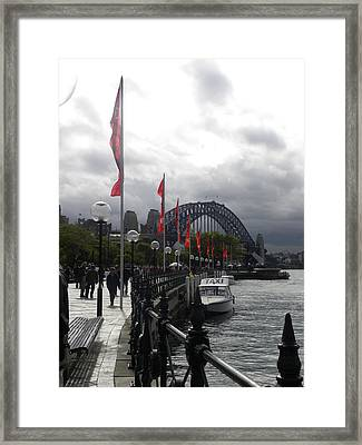 Red Flags Framed Print