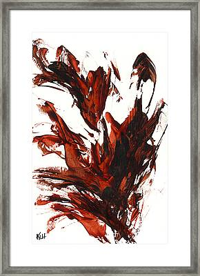 Framed Print featuring the painting Red Flame IIi 64.121410 by Kris Haas