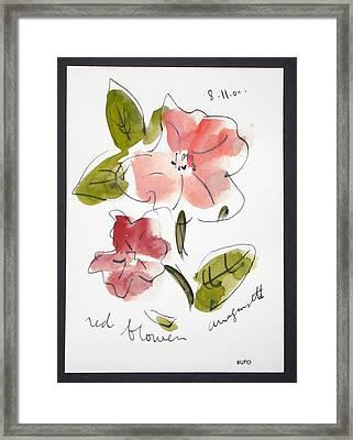 Red Flower Amagansett Framed Print by David Rufo