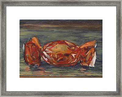 Red Foil Framed Print by Scott Bennett