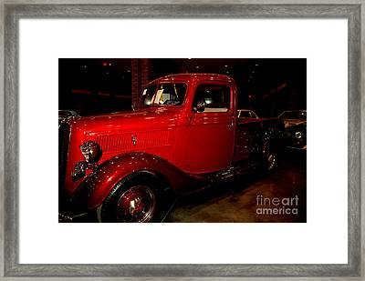 Red Ford Truck Framed Print by Susanne Van Hulst