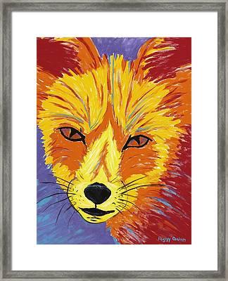 Red Fox Framed Print by Peggy Quinn