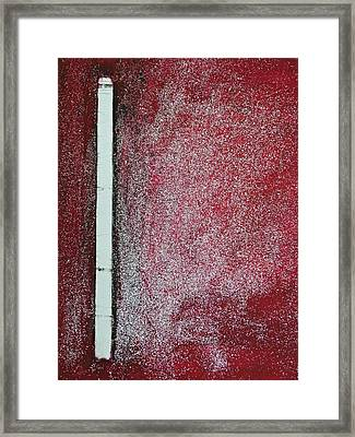 Red Galaxy - Abstract Framed Print by Ismeta Gruenwald
