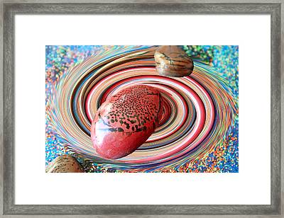 Red Galaxy Framed Print by Augusta Stylianou