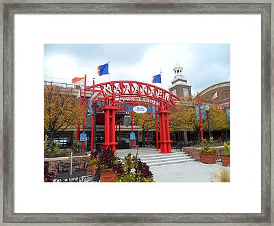 Red Garden Framed Print