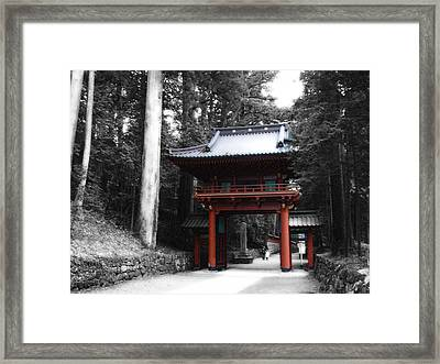Red Gate Framed Print by Naxart Studio