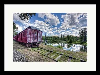 Rail Siding Framed Prints