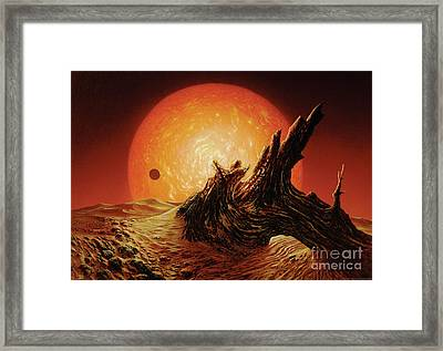 Red Giant Sun Framed Print by Don Dixon