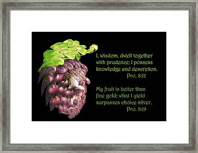 Red Grapes Pro. 8 V19 Framed Print by Linda Phelps
