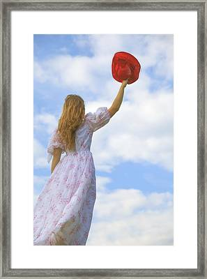 Red Hat Framed Print by Joana Kruse