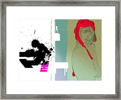 Red Hat Framed Print by Naxart Studio