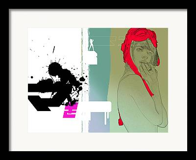 Graphics Drawings Framed Prints