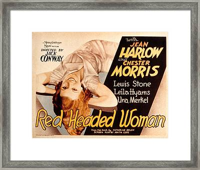 Red-headed Woman, Jean Harlow, 1932 Framed Print by Everett