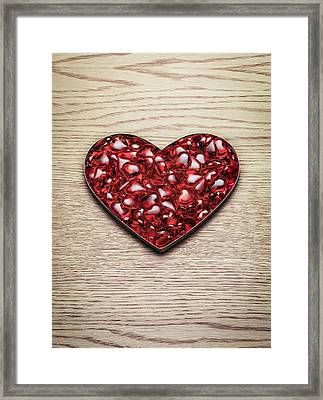 Red Hearts In A Heart Shape Framed Print by Jonathan Kitchen