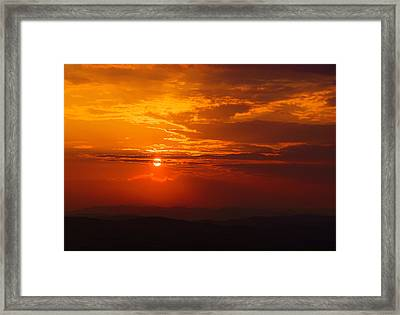 Red Horizon Framed Print