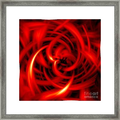 Framed Print featuring the digital art Red Hot by Davandra Cribbie