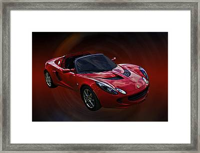 Red Hot Elise Framed Print by Mike  Capone