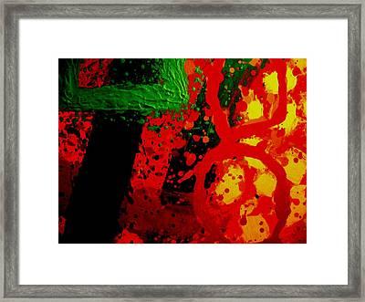 Red Hot Framed Print by John  Nolan