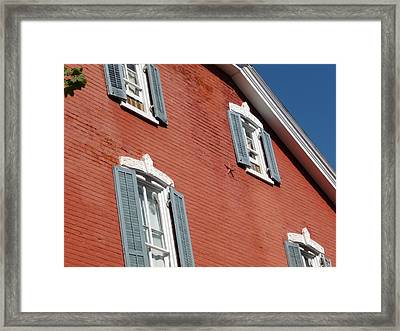 Red House Framed Print by Paul Washington