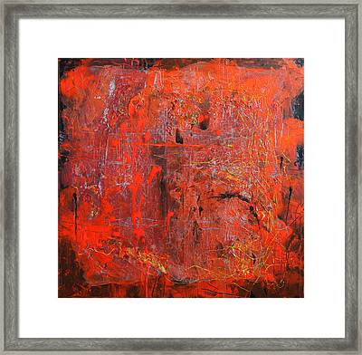 Red Ice Framed Print by Lolita Bronzini