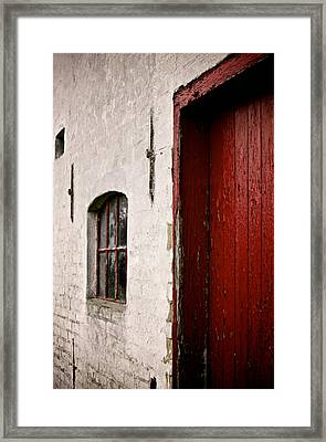 Red In Perspective Framed Print by Odd Jeppesen