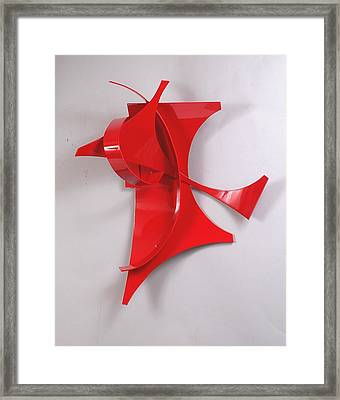 Red Incident Framed Print by Mac Worthington