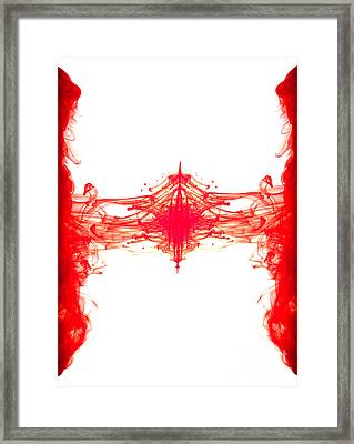 Red Ink Abstract Framed Print by Richard Thomas