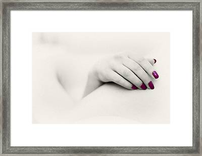 Red Is My Colour Framed Print by Stelios Kleanthous