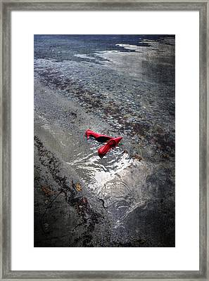 Red Is Swimming Framed Print by Joana Kruse