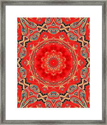 Framed Print featuring the painting Red Kalideoscope by Carolyn Repka
