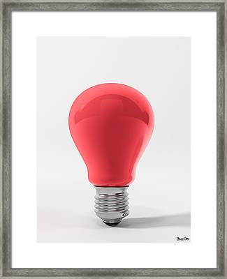 Red Lamp Framed Print by BaloOm Studios