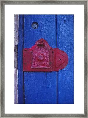 Red Latch Framed Print by Bob Whitt