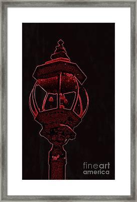 Red Light District Framed Print by EGiclee Digital Prints