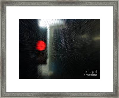 Red Light In The Car Wash Blurred Framed Print by Nareeta Martin
