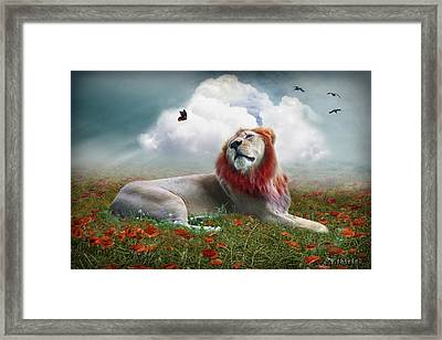 Red Lion Framed Print
